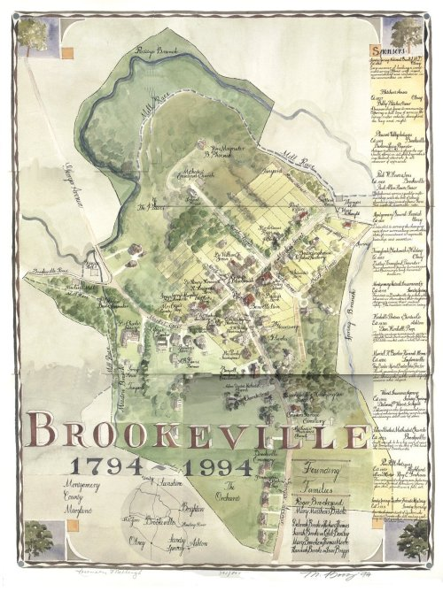 Historical Map of the Town of Brookeville